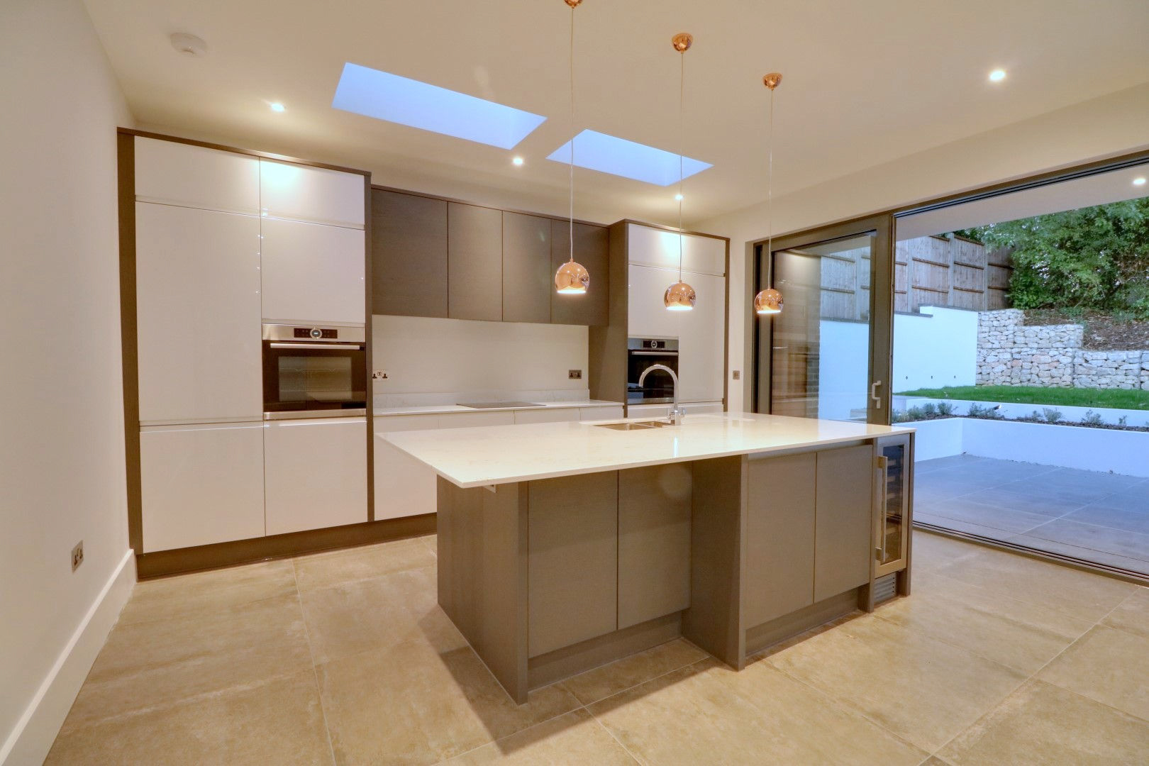 Modern kitchen in London new build transformed with Home Automation by Bryanston Smarthome